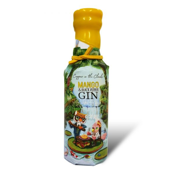 Copper in the Clouds Mango and Black Pepper Gin 50ml Miniature Front