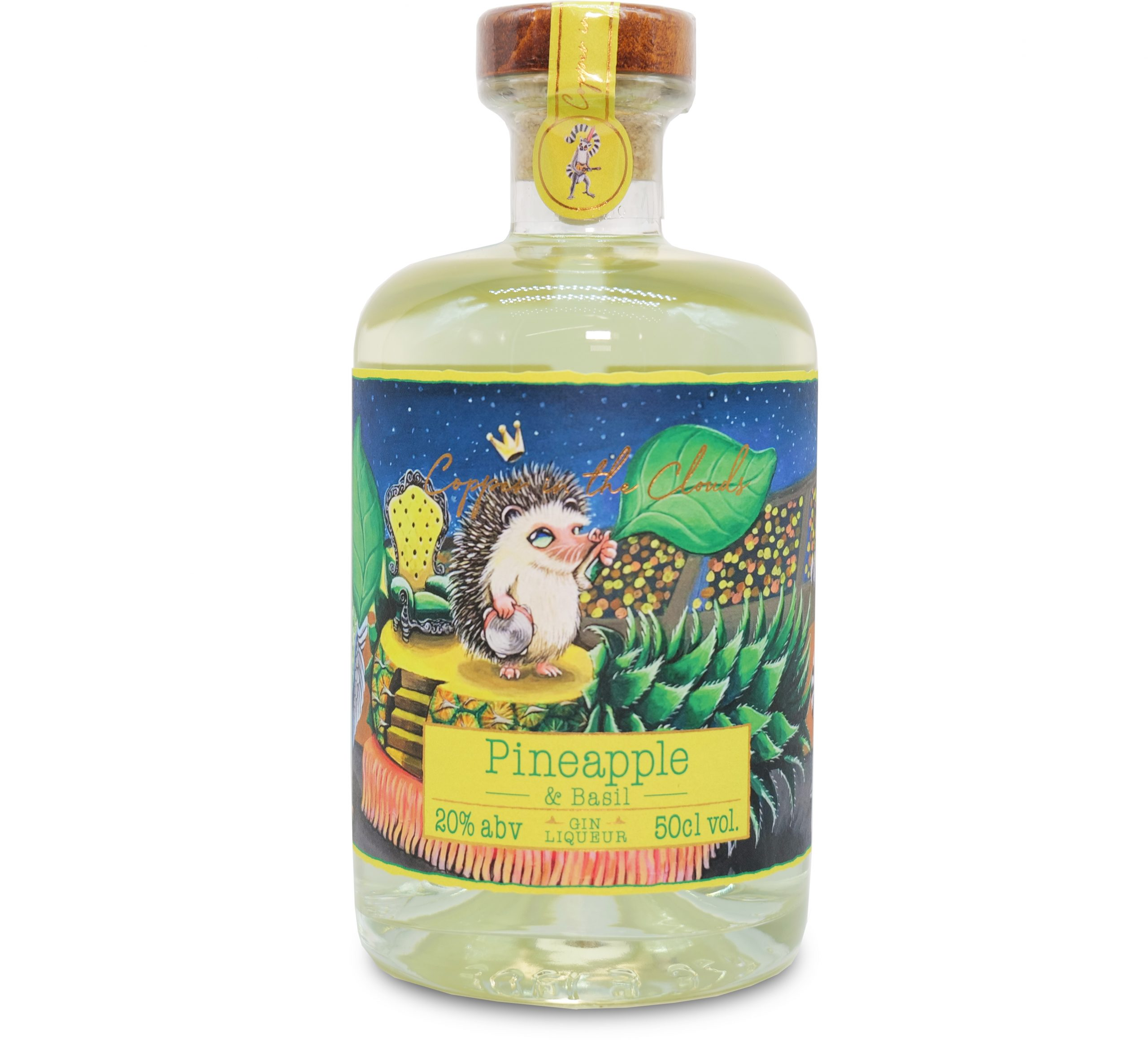 Pineapple and Basil Gin Liqueur by Copper in the Clouds
